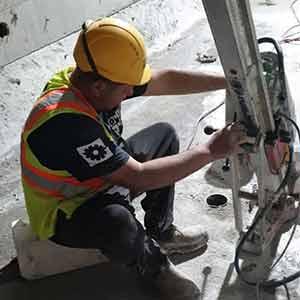 קידוח יהלום בבטון על ידי החברה המובילה בישראל אחים צדיק כמובן